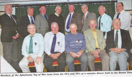 Members of Aghadowey Tug of War team from 60's and 70's