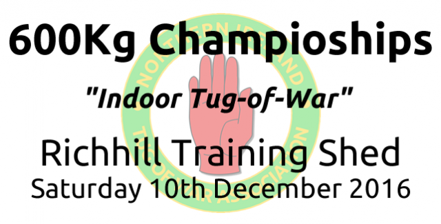 600kg Championships Results Saturday 10th December 2016