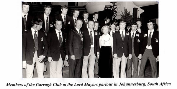 Members of Garvagh Club in South Africa, Johannesburg